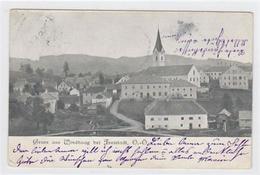 39007879 - Fotokarte Von Windhaag Bei Freistadt. Teilansicht Kirche Gelaufen 1902. Leichte Stempelspuren, Leichter Bug - Österreich