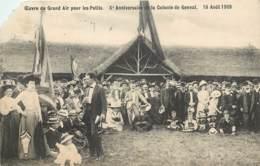 BELGIQUE OEUVRE DU GRAND AIR POUR LES PETITS COLONIE DE GENVAL 15 AOUT 1909 - Belgium