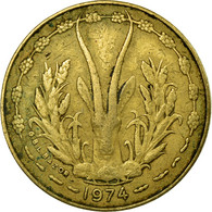Monnaie, West African States, 5 Francs, 1974, Paris, TB, Aluminum-Nickel-Bronze - Côte-d'Ivoire