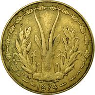 Monnaie, West African States, 5 Francs, 1974, Paris, TB, Aluminum-Nickel-Bronze - Ivory Coast