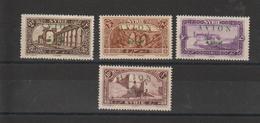Syrie 1925 PA 26 à 29 4 Val ** MNH - Poste Aérienne