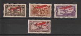 Syrie 1926 PA 30 à 33 4 Val ** MNH - Poste Aérienne