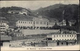 Cp Montreux Kt. Waadt Schweiz, Le Nouveau College - VD Vaud