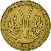 Monnaie, West African States, 5 Francs, 1996, TTB, Aluminum-Nickel-Bronze, KM:2a - Côte-d'Ivoire