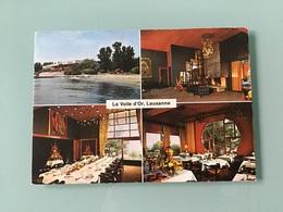 LAUSANNE - VIDY. — Restaurant La Voile D'Or. - Dépliant Publicitaire 2 Volets - Suisse