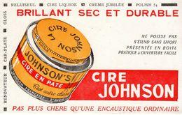 Buvard Ancien - Cire Johnson - Brillant Sec Et Durable - - Buvards, Protège-cahiers Illustrés