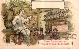 CPA PUBLICITE - FINE CHAMPAGNE MARIE BRIZARD & ROGER - Publicité