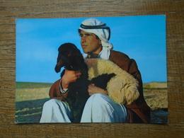 "Jordanie , Jordan , A Shepherd "" Carte Animée Berger Et Son Mouton "" - Jordan"