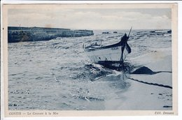 Cpa Carte Postale Ancienne  - Contis Le Courant A La Mer - France