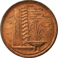 Monnaie, Singapour, Cent, 1977, TTB, Copper Clad Steel, KM:1a - Singapur