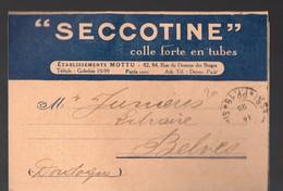 Paris 13e Rue Du Dessus Des Berges: Dépliant  SECOTINE (etabl..Mottu)  (PPP18212) - Advertising