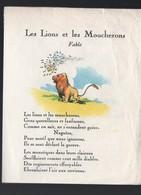 Pub LION NOIR  : Fable: Le Lion Et Les Moucherons  (PPP18215) - Advertising