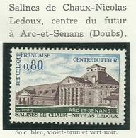 FRANCE - 1970 - SALINES DE CHAUX - NICOLAS LEDOUX - CENTRE DU FUTUR - YT N° 1651 - TIMBRE NEUF** - Nuovi