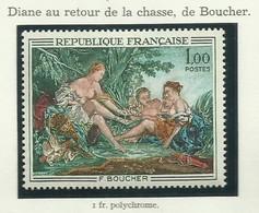 FRANCE - 1970 - DIANE DE RETOUR DE LA CHASSE DE BOUCHER - YT N° 1652 - TIMBRE NEUF** - France