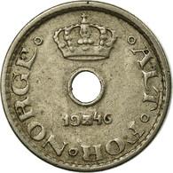 Monnaie, Norvège, Haakon VII, 10 Öre, 1946, TTB, Copper-nickel, KM:383 - Norvège