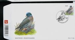 FDC  Du N° 3390  Houdduif - Pigeon Ramier    Obl. Deurne 02/04/2005 - 1985-.. Birds (Buzin)