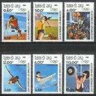 Mua070 SPORT OLYMPISCHE SPELEN HOOGSPRINGEN HORDELOPEN BASKETBALL ATHLETICS OLYMPIC GAMES LOS ANGELES LAOS 1983 PF/MNH - Zomer 1984: Los Angeles