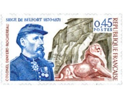 Ref. 353325 * HINGED * - FRANCE. 1970. 100th ANNIVERSARY OF BELFORT LION . 100 ANNIVERSARIO DEL LEON DE BELFORT - France