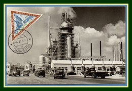Nederlandse Antillen Maxicard Aruba San Nicolas Lago Oil Minérals 1956 Carte Maximum Pétrole Minéraux Antilles - Antilles