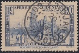 Côte D'Ivoire 1913-1944 - Abidjan Sur N° 115 (YT) N° 118 (AM). Oblitération. - Côte-d'Ivoire (1892-1944)