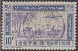Côte D'Ivoire 1913-1944 - Dakar Principal Sur Poste Aérienne N° 15 (YT) N° 15 (AM). Oblitération. - Côte-d'Ivoire (1892-1944)