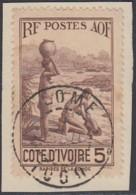 Côte D'Ivoire 1913-1944 - Lome / Togo Sur N° 130 (YT) N° 133 (AM). Oblitération. - Côte-d'Ivoire (1892-1944)