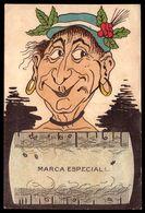 Postal Comico PENTE Para PIOLHOS - Marca Registada. Old Comic Postcard Advertising LICE COMB Portugal - Publicité