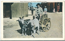 Superbe Cpa Couleur De CUBA  -    Water Delivery In The Rural Distriets  ( Attelage  Chevres ) - Postcards