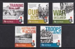 Australia 2014 World War I Centenary Set Of 5 Used - 2010-... Elizabeth II
