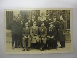 CONSCRITS DE BUZANCAIS CLASSE BOX 1935-36 CARTE PHOTO - France