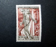 FRANCE 1956 N°1050 * (MÉMORIAL NATIONAL DE LA DÉPORTATION. 15F BRUN-CARMIN ET SÉPIA) - Ungebraucht