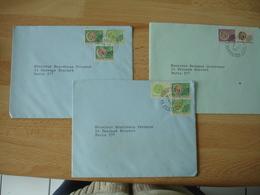 Lot De 3 Lettre P O Pre Oblitere  Timbre Infien Indiens - Marcophilie (Lettres)
