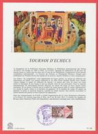 TIMBRE - FRANCE - TOURNOI D' ECHECS - 1974 - Documents De La Poste