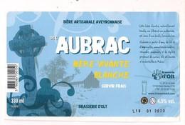 Etiquette Décollée Bière Artisanale De L'Aubrac - Blanche - Brasserie D'Olt à St Geniez D'Olt - - Bière