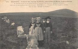 BRASPARTS  -   Mariage De Pierres , Pres Du Mont Saint Michel ..animée ( Theme Dolmen , Menhir ) Edts Joncour  269 - France