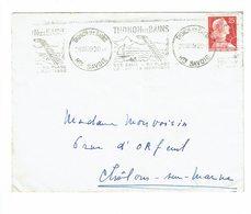 FRANCE THONON LES BAINS OBLITERATION KRAG  1959   ALPES MONTAGNES - Stamps