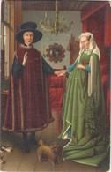 POSTAL    LONDON  - FLEMISH MERCHANT AND LADY  -JAN VAN EYCK - Museos