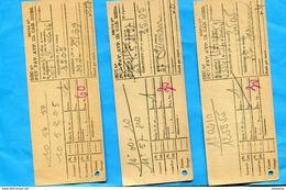 3 Tickets De Cabine Téléphonique-années 50-avant La Télécarte - Unclassified