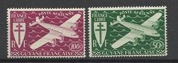 Guyane  Poste  Aérienne N°   4  Et   5     Neufs *  *    B/TB  Soldé à  Moins De 20 %  ! ! ! - Unused Stamps