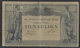 Netherlands  10 Gulden 3-4-1921 - 7-7-1923 - NR LA 24922 - See The 2 Scans For Condition.(Originalscan ) - [2] 1815-… : Koninkrijk Der Verenigde Nederlanden