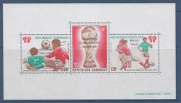 = Bloc République Gabonaise Coupe Du Monde 1978 3 Timbres 100F, 120F Et 200F, Argentine Champion Du Monde - Coupe Du Monde