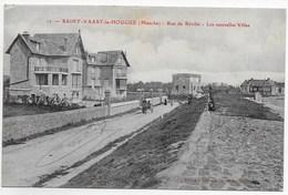 CPA 50 SAINT VAAST LA HOUGUE  RUE DE REVILLE LES NOUVELLES VILLAS - Saint Vaast La Hougue