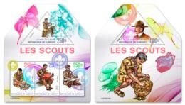 Djibouti 2019 Scouts Scouting ODD Shape M+S/S DJB190218 - Famous People