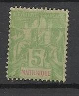 Martinique Poste   N°  44  Neuf *  B/TB  .........soldé à  Moins De 20 %  ! ! ! - Martinique (1886-1947)