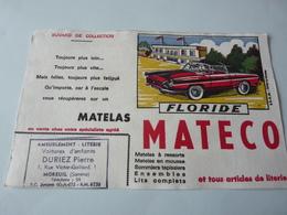 Buvard         Matelas  Mateco   Floride    (avec Tampon Duriez Pierre  Moreuil 80) - Blotters