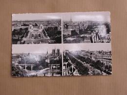 PARIS Multi Vues  ( 2 ) Arc Triomphe Tour Eiffel Palais Notre-Dame De Paris  CPA Carte Postale France - France