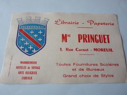 Buvard      Librairie Papeterie Mme  Pringuet    Moreuil  80 - Stationeries (flat Articles)