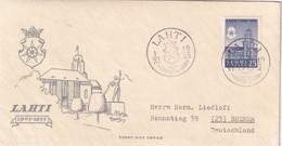 FINLANDE 1955 FDC DE LAHTI POUR BREMEN - Finlande