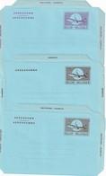 BELGIQUE      ENTIER POSTAL/GANZSACHE/POSTAL STATIONERY LOT DE 3 AEROGRAMMES - Stamped Stationery