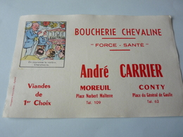 Buvard      Boucherie  Chevaline     André  Carrier      Moreuil     Conty   80  Imageries Pellerin - Food